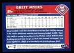 2003 Topps #620  Brett Myers  Back Thumbnail