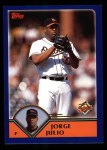 2003 Topps #538  Jorge Julio  Front Thumbnail