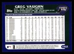 2003 Topps #162  Greg Vaughn  Back Thumbnail