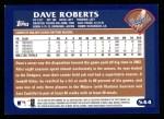 2003 Topps #544  Dave Roberts  Back Thumbnail