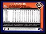 2003 Topps #158  J.T. Snow  Back Thumbnail
