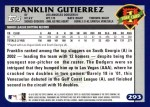 2003 Topps #293   -  Franklin Gutierrez First Year Back Thumbnail