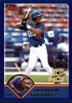 2003 Topps #293   -  Franklin Gutierrez First Year Front Thumbnail