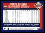 2003 Topps #625  Chris Gomez  Back Thumbnail
