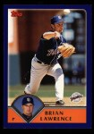 2003 Topps #157  Brian Lawrence  Front Thumbnail