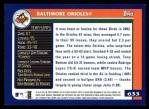 2003 Topps #633   Baltimore Orioles Team Back Thumbnail