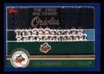 2003 Topps #633   Baltimore Orioles Team Front Thumbnail