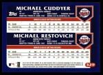2003 Topps #329  Michael Cuddyer / Michael Restovich  Back Thumbnail