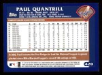 2003 Topps #420  Paul Quantrill  Back Thumbnail