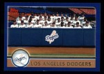 2003 Topps #644   Los Angeles Dodgers Team Front Thumbnail