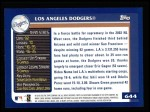 2003 Topps #644   Los Angeles Dodgers Team Back Thumbnail