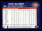 2003 Topps #108  Fred McGriff  Back Thumbnail