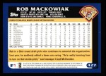 2003 Topps #427  Rob Mackowiak  Back Thumbnail