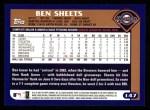 2003 Topps #147  Ben Sheets  Back Thumbnail