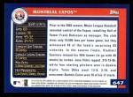 2003 Topps #647   Montreal Expos Team Back Thumbnail