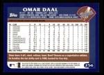 2003 Topps #256  Omar Daal  Back Thumbnail