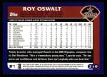2003 Topps #210  Roy Oswalt  Back Thumbnail