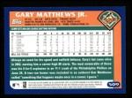 2003 Topps #509  Gary Matthews Jr.  Back Thumbnail