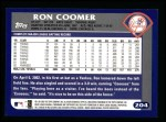 2003 Topps #204  Ron Coomer  Back Thumbnail