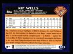 2003 Topps #203  Kip Wells  Back Thumbnail