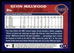 2003 Topps #219  Kevin Millwood  Back Thumbnail