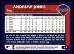 2003 Topps #13  Andruw Jones  Back Thumbnail