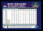 2003 Topps #516  Matt Williams  Back Thumbnail