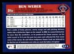 2003 Topps #511  Ben Weber  Back Thumbnail