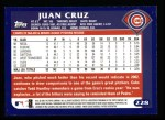 2003 Topps #228  Juan Cruz  Back Thumbnail