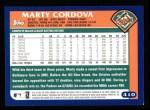 2003 Topps #410  Marty Cordova  Back Thumbnail