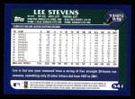 2003 Topps #541  Lee Stevens  Back Thumbnail