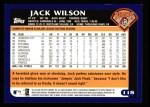 2003 Topps #118  Jack Wilson  Back Thumbnail