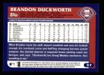 2003 Topps #37  Brandon Duckworth  Back Thumbnail