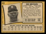 1971 O-Pee-Chee #669  Ike Brown  Back Thumbnail
