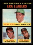 1971 O-Pee-Chee #67   -  Jim Palmer / Diego Segui / Clyde Wright AL ERA Leaders  Front Thumbnail