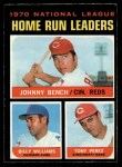 1971 O-Pee-Chee #66   -  Johnny Bench / Tony Perez / Billy Williams NL HR Leaders   Front Thumbnail