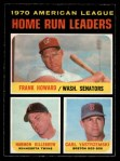 1971 O-Pee-Chee #65   -  Frank Howard / Harmon Killebrew / Carl Yastrzemski AL HR Leaders   Front Thumbnail