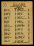1971 O-Pee-Chee #64   -  Johnny Bench / Tony Perez / Billy Williams NL RBI Leaders   Back Thumbnail