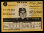 1971 O-Pee-Chee #45  Catfish Hunter  Back Thumbnail