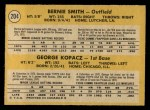1971 O-Pee-Chee #204   -  George Kopacz / Bernie Smith Brewers Rookies Back Thumbnail
