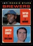 1971 O-Pee-Chee #204   -  George Kopacz / Bernie Smith Brewers Rookies Front Thumbnail