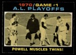 1971 O-Pee-Chee #195   -  Boog Powell 1970 AL Playoffs - Game 1 - Powell Muscles Twins Front Thumbnail
