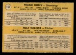 1971 O-Pee-Chee #164   -  Frank Duffy / Milt Wilcox Reds Rookies Back Thumbnail