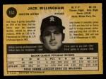 1971 O-Pee-Chee #162  Jack Billingham  Back Thumbnail