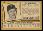 1971 O-Pee-Chee #749  Ken Szotkiewicz  Back Thumbnail
