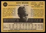 1971 O-Pee-Chee #241  Dave Nelson  Back Thumbnail