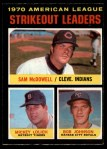 1971 O-Pee-Chee #71   -  Bob Johnson / Mickey Lolich / Sam McDowell AL Strikeout Leaders Front Thumbnail