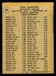 1971 O-Pee-Chee #68   -  Tom Seaver / Wayne Simpson / Luke Walker NL ERA Leaders   Back Thumbnail