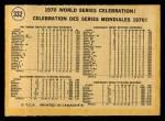 1971 O-Pee-Chee #332   1970 World Series - Summary - Celebration Back Thumbnail