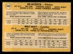 1971 O-Pee-Chee #343   -  Ed Acosta / Milt May Pirates Rookies   Back Thumbnail